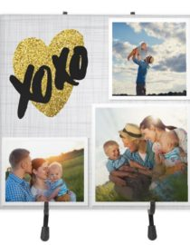 xoxo ceramic photo tile