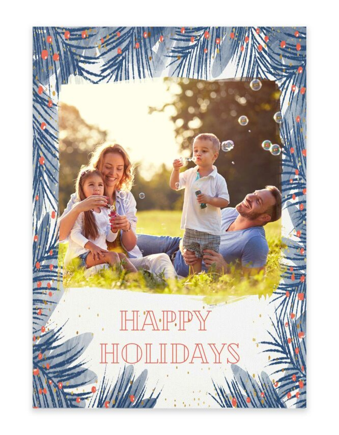 happy holidays family Christmas card