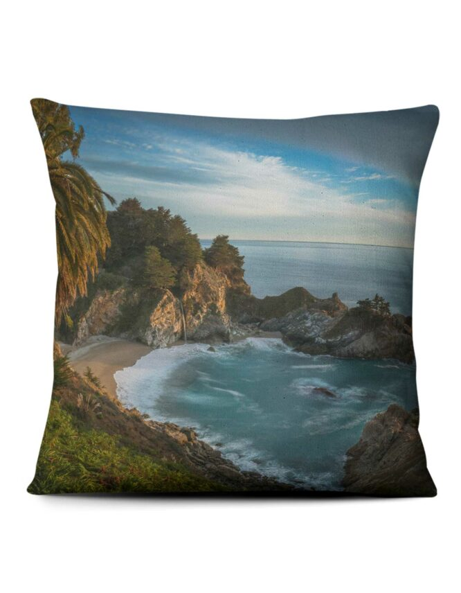 blue cove custom photo pillow prints