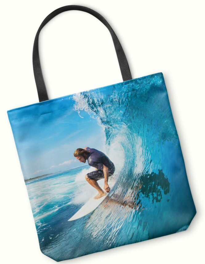 ba brave double sided photo tote bag