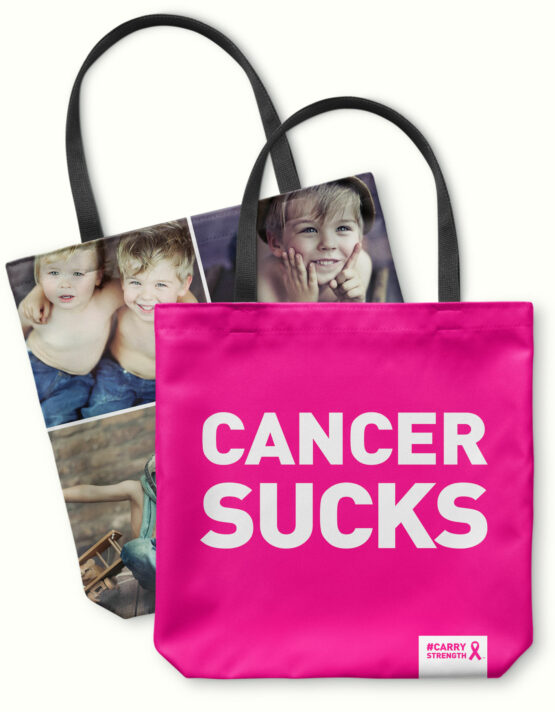 Cancer Sucks! Personalized Canvas Tote Bag 3