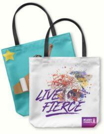cool cancer awareness photo tote bag