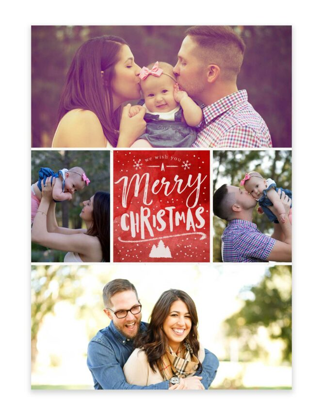 photo collage family christmas card