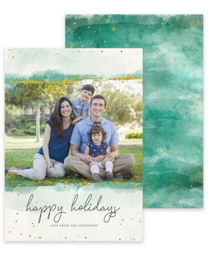 colorful custom christmas card