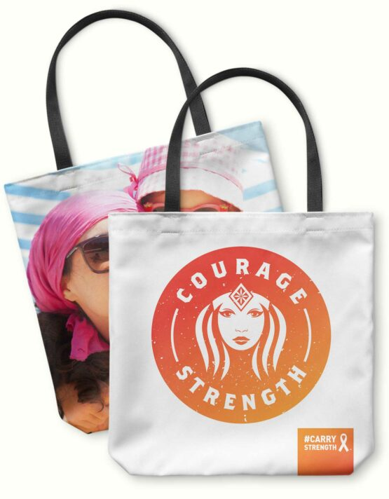 Courage & Strength Custom Photo Tote Bag 6