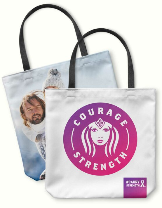 Courage & Strength Canvas Photo Tote Bag 5