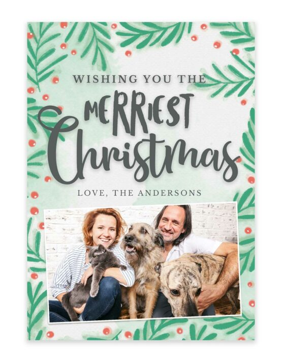 A Green Tree Christmas Card 3