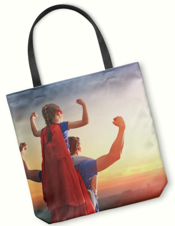 custom photo tote bag for dad