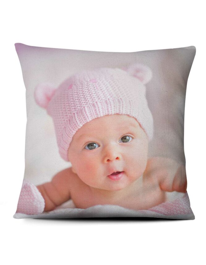 baby's big day custom photo pillow