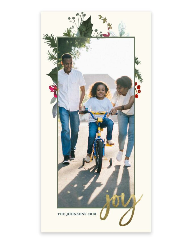 great 4x8 photo card for the family