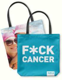 F*CK CANCER photo tote bag