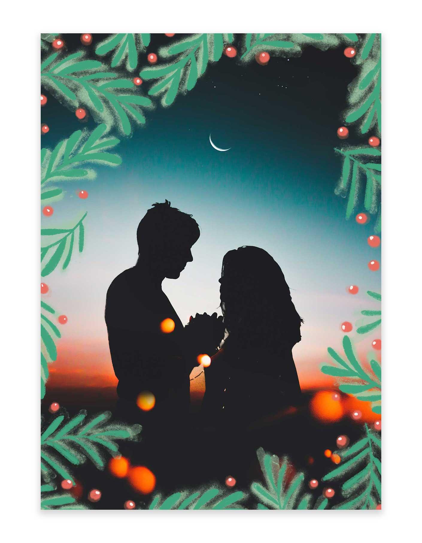 Christmas Card Design.A Green Tree Christmas Card Goodprints Com