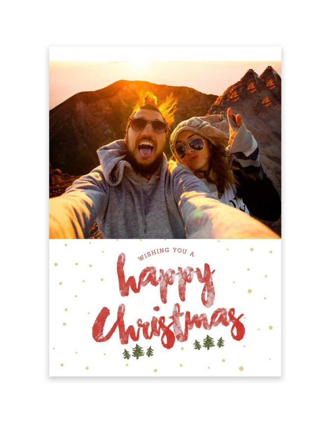 happy Christmas holiday card