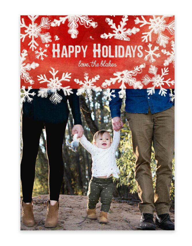happy holidays custom christmas card design
