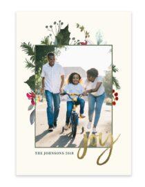 holiday joy Christmas card