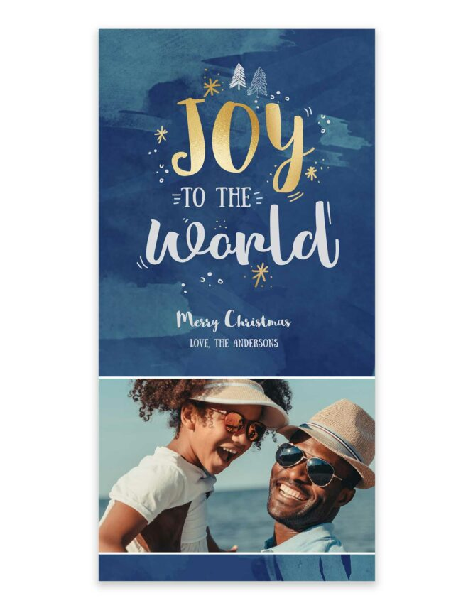 joy to the world custom christmas card
