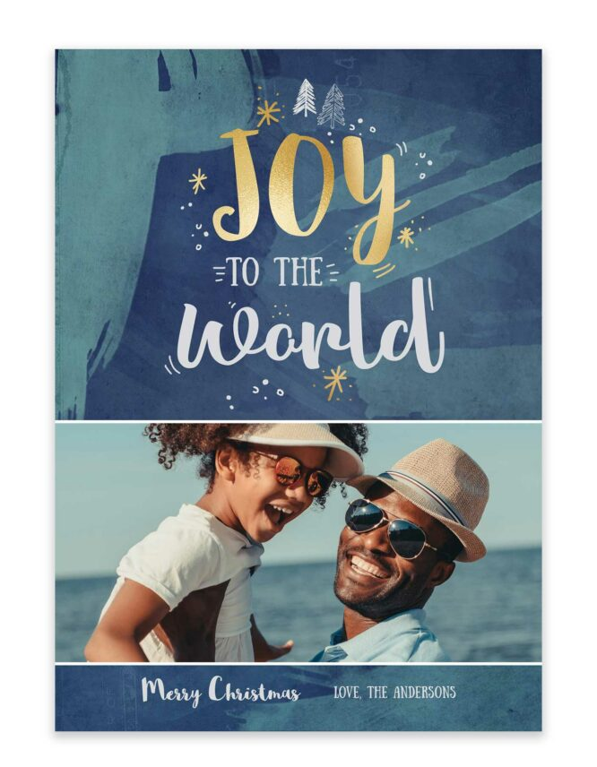 joy to the world custom christmas card