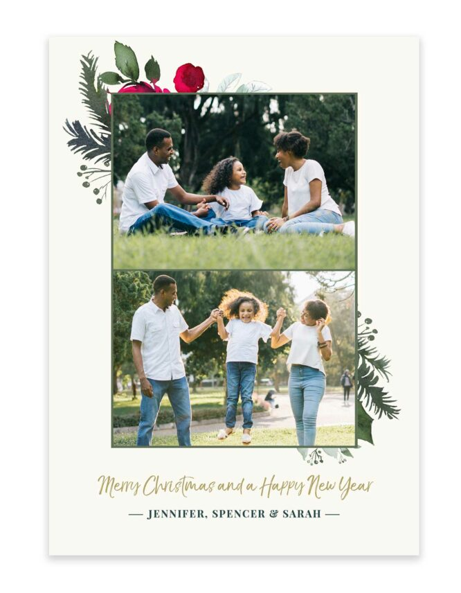 merry christmas family greeting card