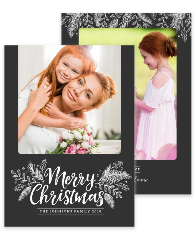 custom double sided Christmas card