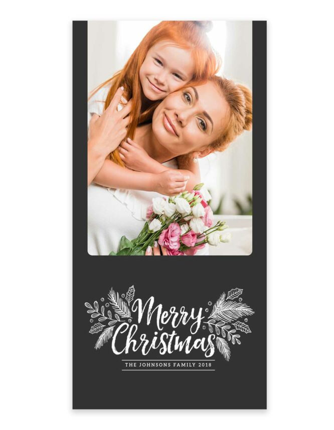 family greeting card for the holidays