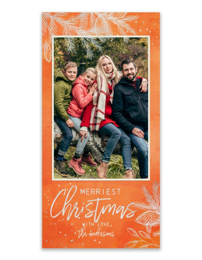 orange christmas card design