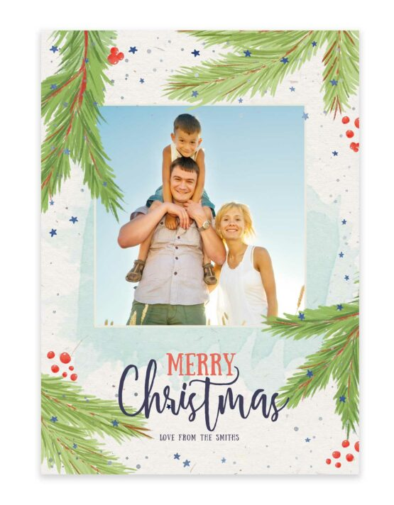 A Tropical Family Christmas Holiday Card 2