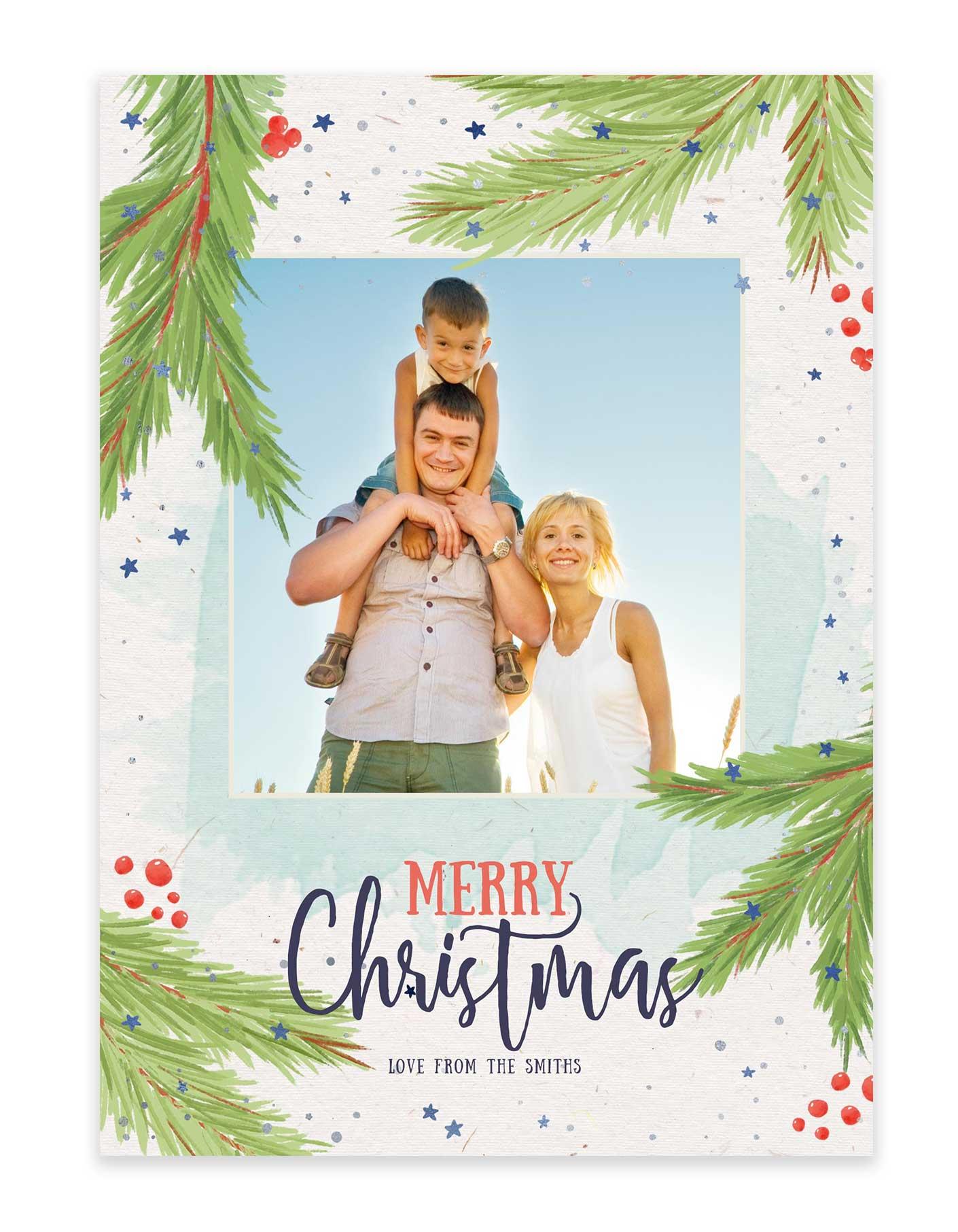 Tropical Christmas.A Tropical Family Christmas Holiday Card