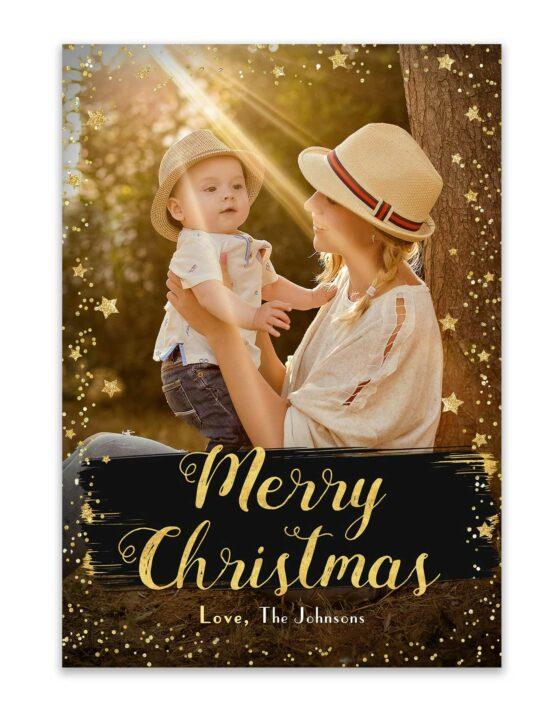 Merry Christmas Stars Card 2