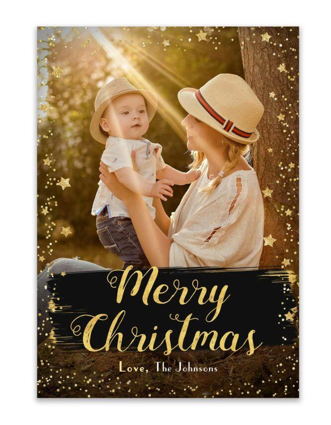 merry christmas custom christmas card design