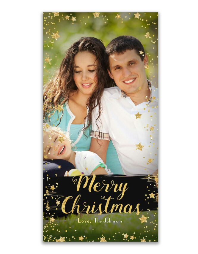 merry christmas family holiday photo card