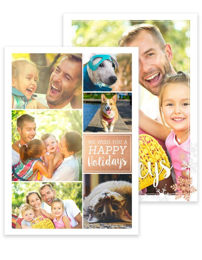 multi photo double sided greeting card