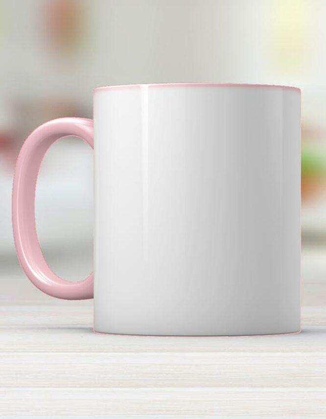 pink ceramic photo mug