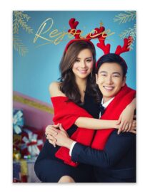 rejoice christmas greeting card design