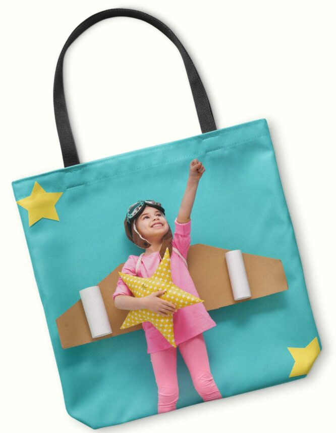 fun kid photo tote bag