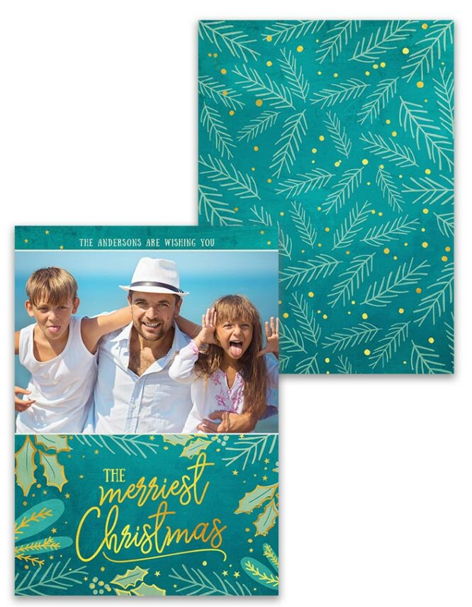 double sided custom photo greeting card
