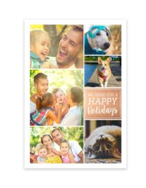 we wish you a happy holiday greeting card