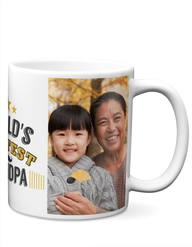 World's Greatest Grandpa Custom Photo Mug from Goodprints