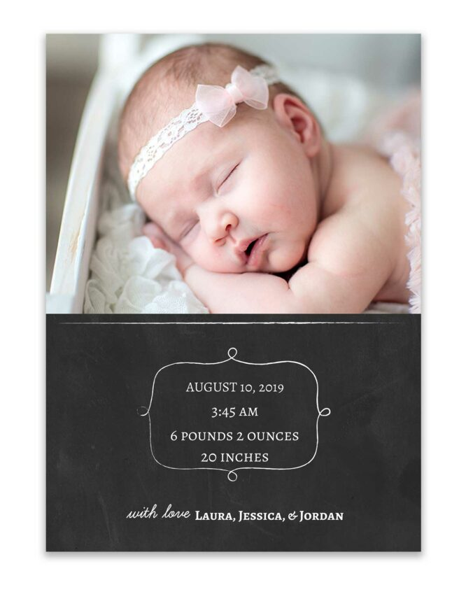 introducing your baby girl custom photo card