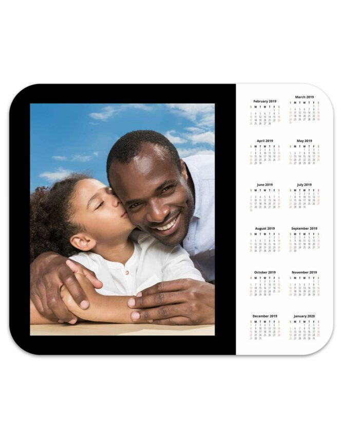 photo mouse pad calendar black border