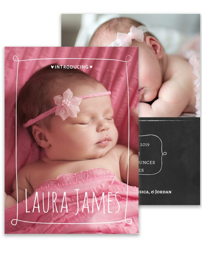 custom birth announcement stationery card