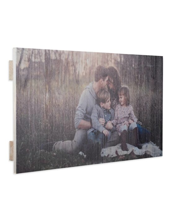 Rustic Wood Photo Prints with family picture from goodprints