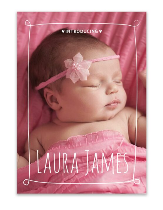 custom birth announcement photo card