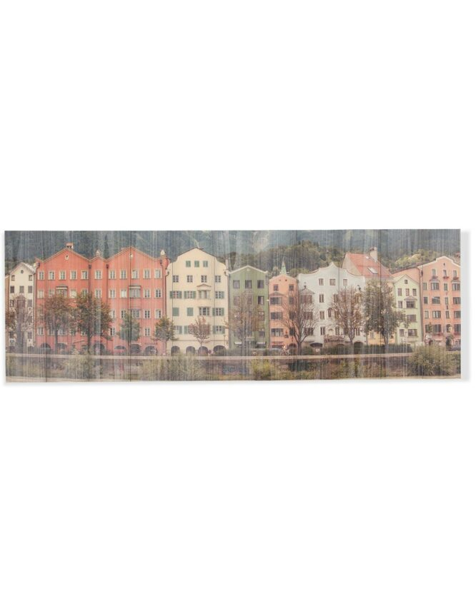panoramic rustic wood photo wall art
