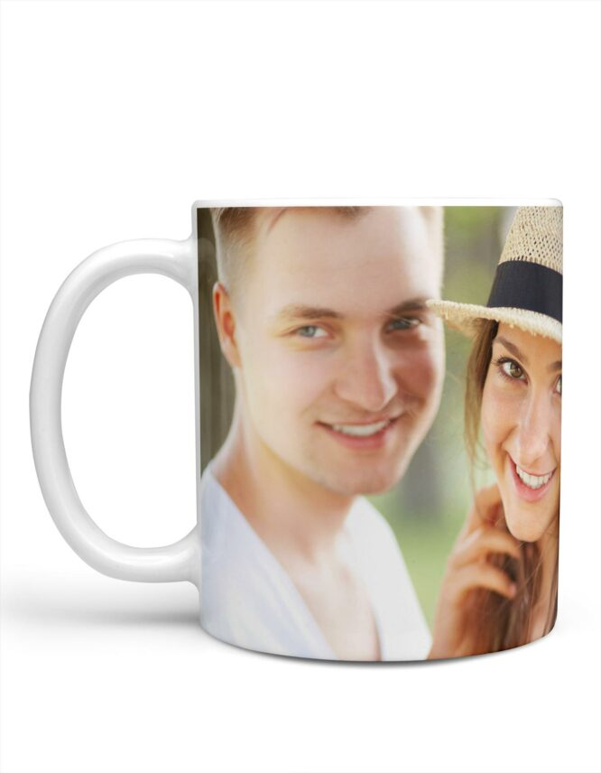 happy couple valentines day photo mug