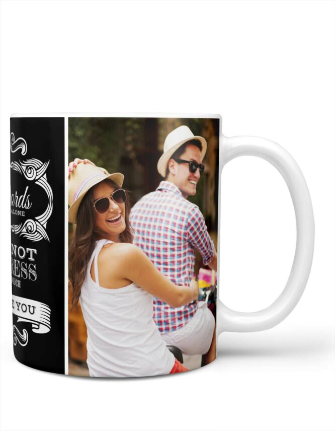 words alone custom valentines photo mug