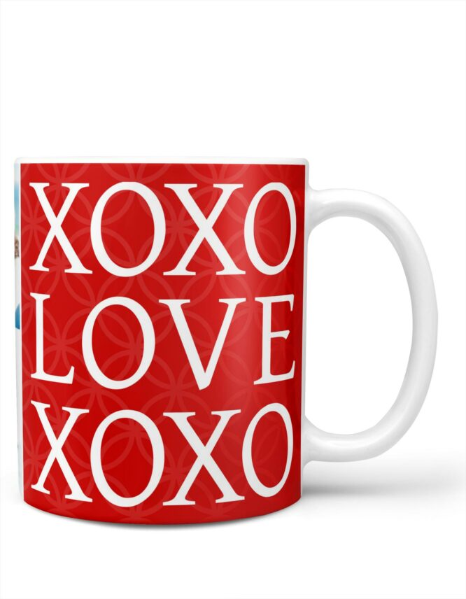 xoxo valentines day photo mug