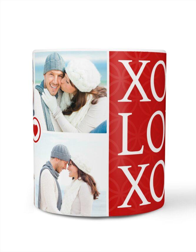 xoxo valentines day photo mug for her