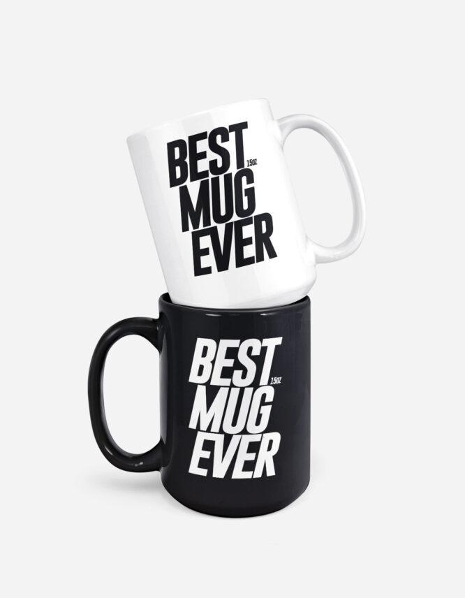 15oz Custom White and Black Photo Mug