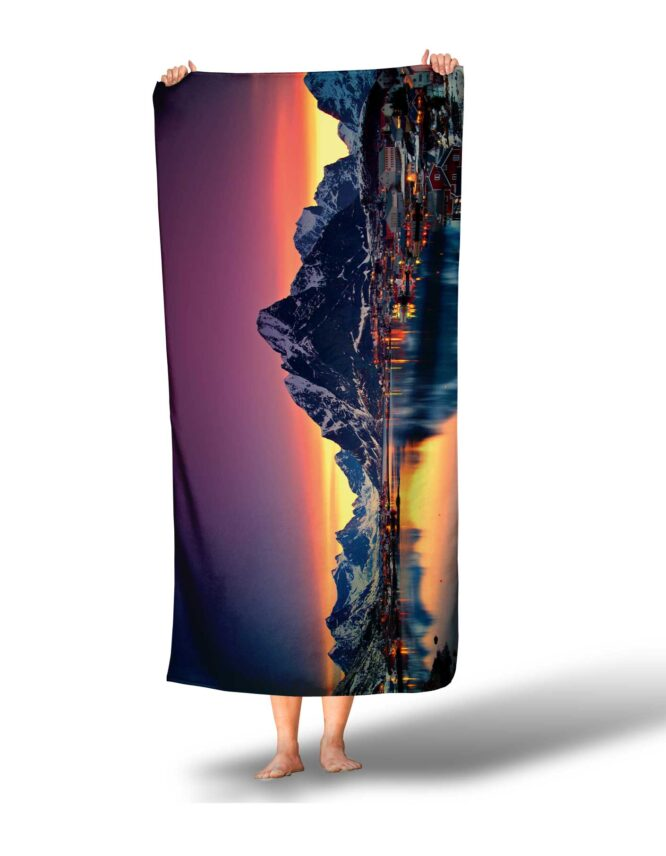 custom photo towel of Iceland