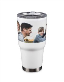 personalized double wall tumbler with photo print